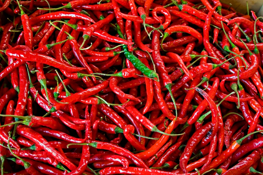 Red_Peppers By http://www.flickr.com/photos/calliope via Wikimedia Commons