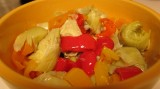 Sweet Peppers with Artichoke Hearts Salad – A Side to My Mini Burgers