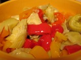 Sweet Peppers with Artichoke Hearts Salad – A Side to My MiniBurgers