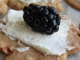 Hazelnut Shortbread with Mascaporne and Blackberries – Venturing into the Baking World