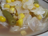Sweet Corn, Green Beans, and Cabbage in Tamarind Soup
