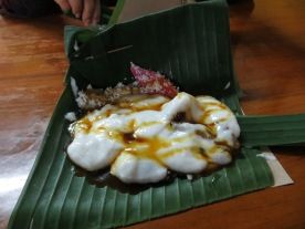 Street food: the sweet Bubur Madura (made of rice flour and drizzled with melted palm sugar.)