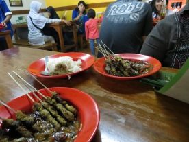 Jeffri's Favorite: Sate Kelapa (chicken or beef satay with shredded coconut)