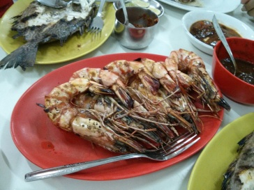 """To die for"": Grilled prawns"