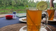 Traditional tea drink with ginger, lemongrass, lemon, and honey (Ubud, Bali)