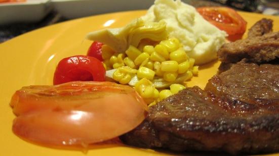Steak night by HR