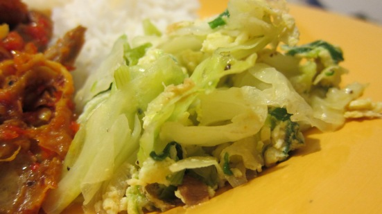 Stir-fry cabbage by Harini