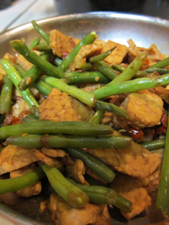Tempeh with Green Beans by Harini