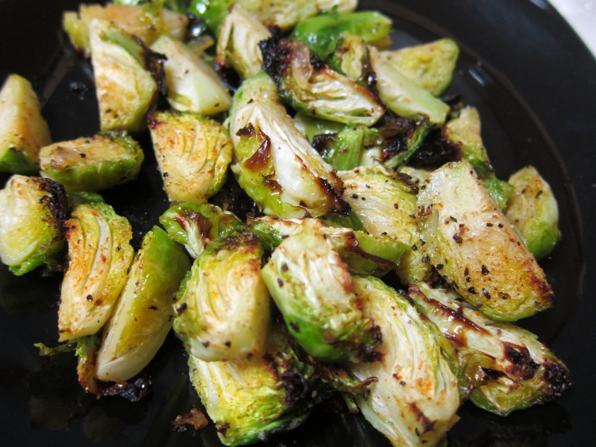 Broiled Brussels Sprouts by Harini