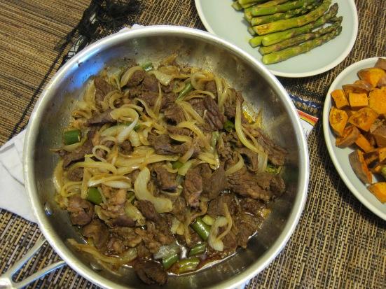 Yakiniku style beef with sauteed onion by Harini