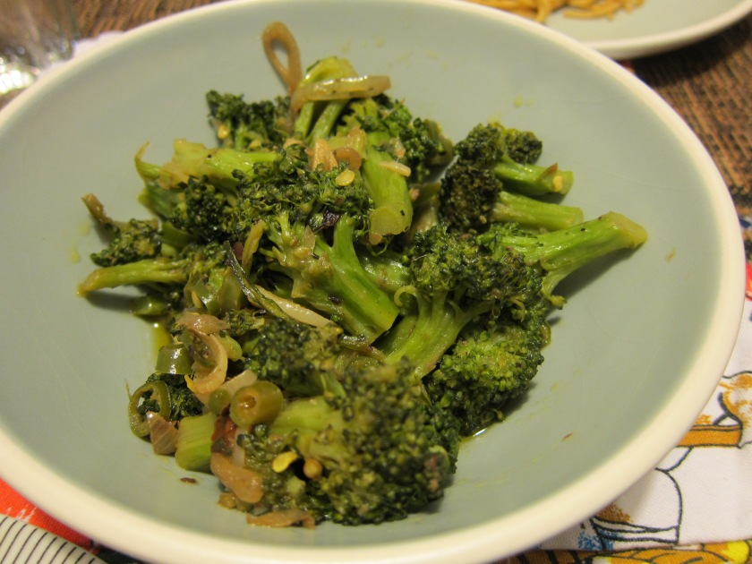 A new favorite Brocolli cooked with anchovies by Harini