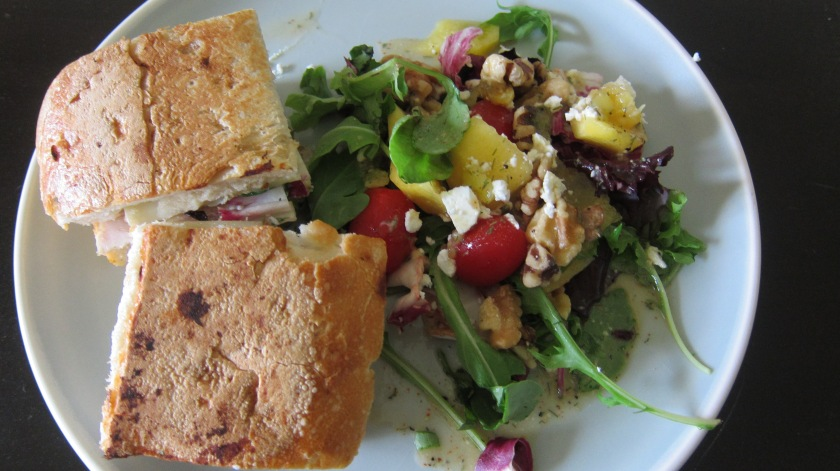 Summer Salad with Grilled Turkey Sandwich by Tiny Chili Pepper
