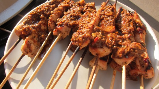 Chicken Satay w Walnut Sauce by Tiny Chili Pepper 1