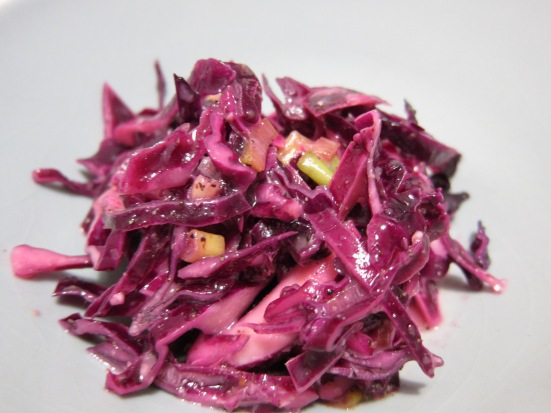 Red Cabbage Coleslaw with Horseradish ala Tiny Chili Pepper