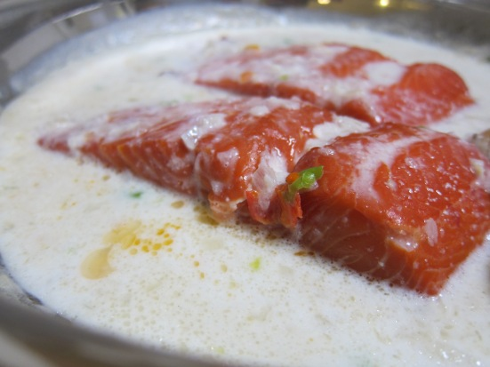 Smoked Salmon in Spicy Coconut Milk Sauce by Tiny Chili Pepper
