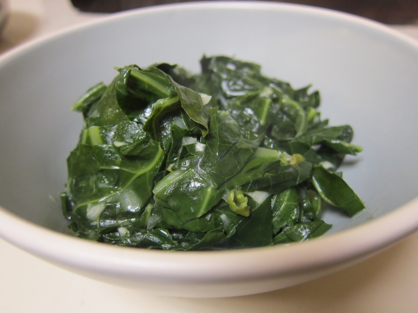 Braised Collard Greens by Tiny Chili Pepper