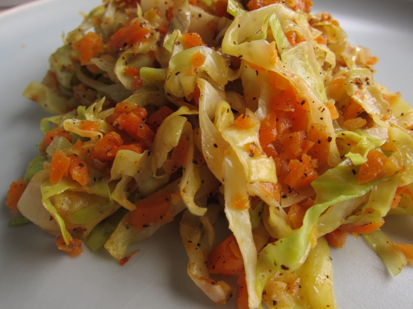 Sauteed Cabbage and Carrots by Tiny Chili Pepper