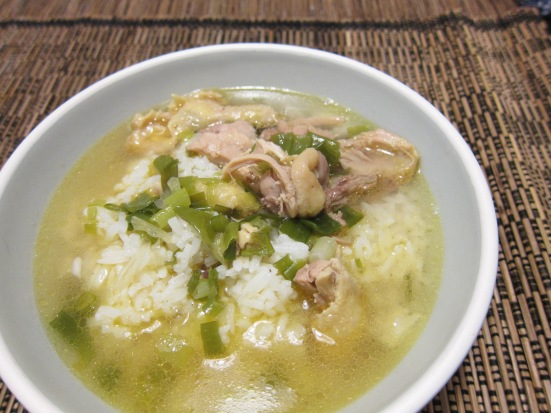 Chicken in Sesame, Ginger, and Garlic Soup by Tiny Chili Pepper