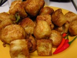Vegetable Stuffed Fried Tofu