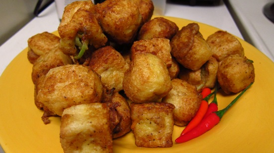 Vegetable Stuffed Fried Tofu by Tiny Chili Pepper